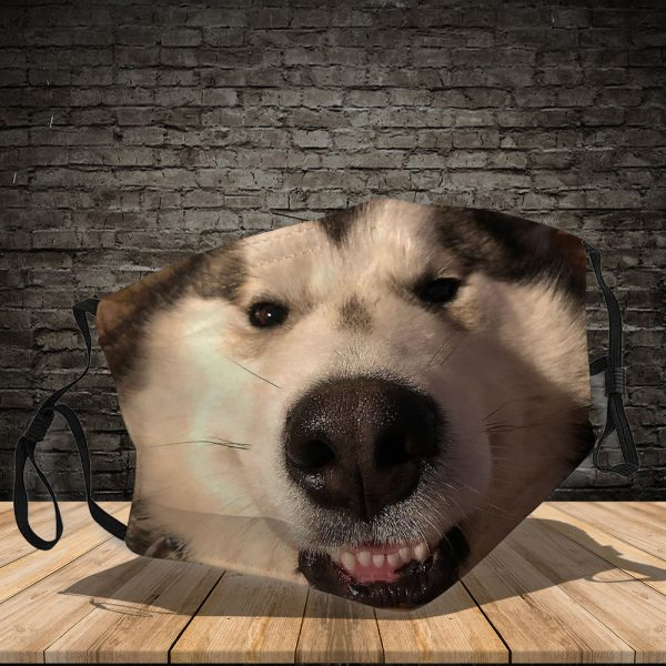 Alaskan Malamute - Dog: This How I Save The World - PM 2.5 Air Pollution Masks Washable Reusable Face Mask