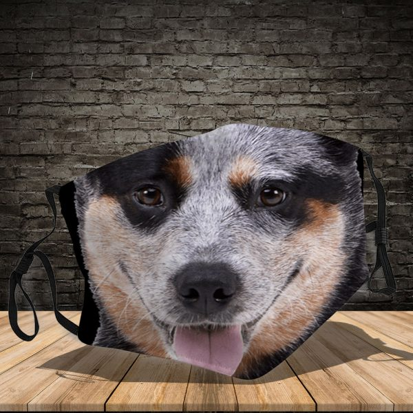 Australian Cattle Dog - Dog: This How I Save The World - PM 2.5 Air Pollution Masks Washable Reusable Face Mask