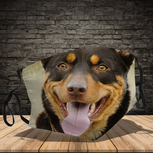 Australian Kelpie - Dog: This How I Save The World - PM 2.5 Air Pollution Masks Washable Reusable Face Mask