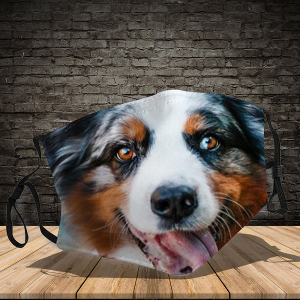 Australian Shepherd - Dog: This How I Save The World - PM 2.5 Air Pollution Masks Washable Reusable Face Mask