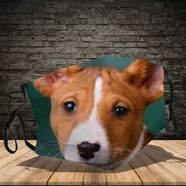 Basenji - Dog: This How I Save The World - PM 2.5 Air Pollution Masks Washable Reusable Face Mask