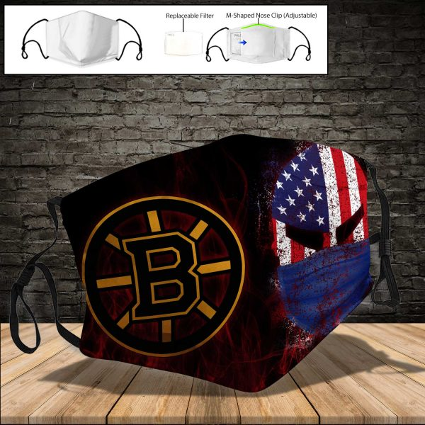 Boston Bruins PM 2.5 Air Pollution Masks Washable Reusable Face Mask F#3