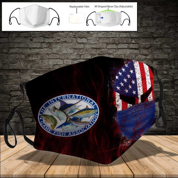 International Game Fish Association PM 2.5 Air Pollution Masks Washable Reusable Face Mask F#3