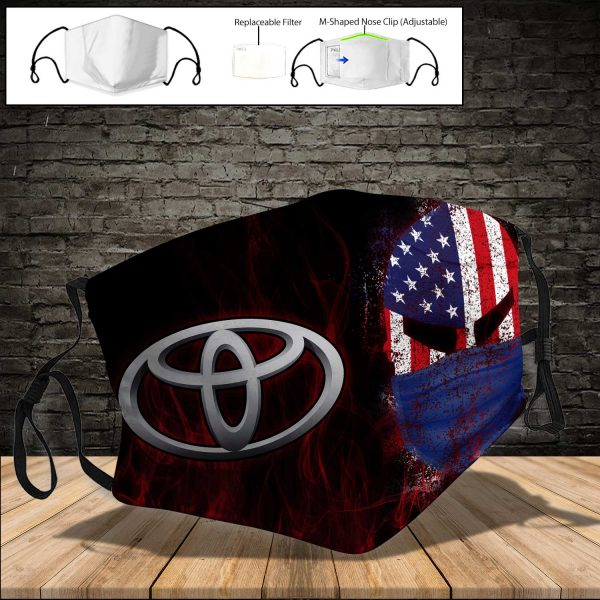 Toyota Land Cruiser PM 2.5 Air Pollution Masks Washable Reusable Face Mask F#3