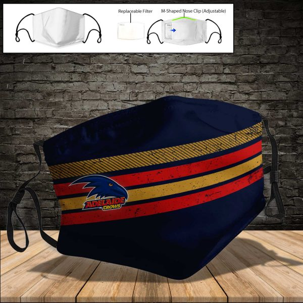 Adelaide Crows PM 2.5 Air Pollution Masks Washable Reusable Face Mask F#4