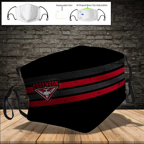 Essendon Bombers PM 2.5 Air Pollution Masks Washable Reusable Face Mask F#4