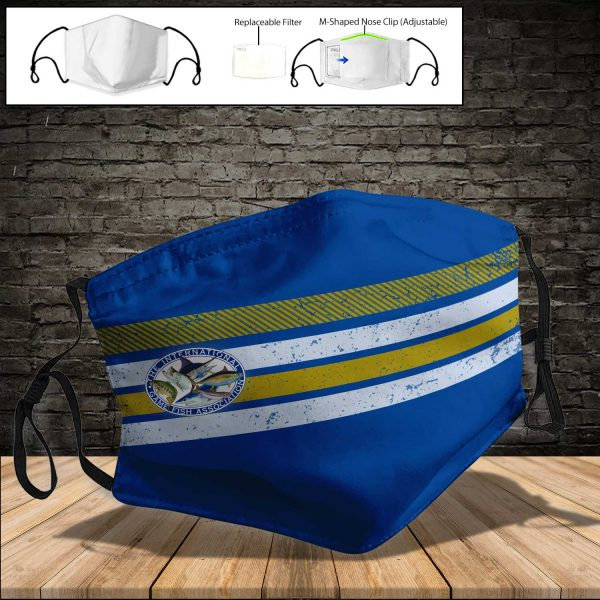 International Game Fish Association PM 2.5 Air Pollution Masks Washable Reusable Face Mask F#4