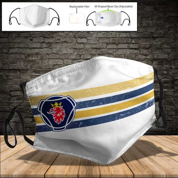 Scania PM 2.5 Air Pollution Masks Washable Reusable Face Mask F#4