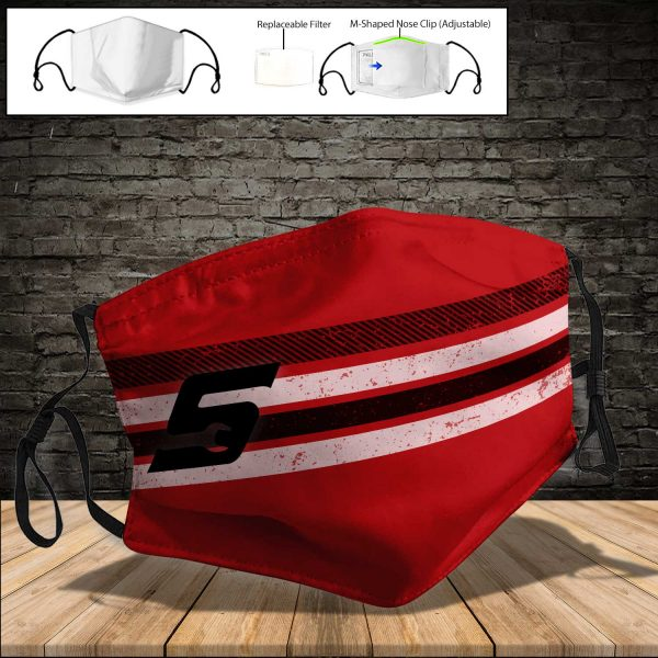 Snap on PM 2.5 Air Pollution Masks Washable Reusable Face Mask F#4