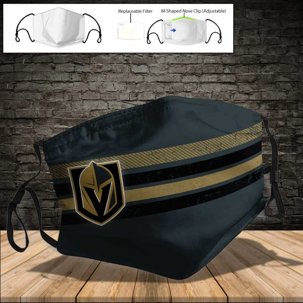 Vegas Golden Knights PM 2.5 Air Pollution Masks Washable Reusable Face Mask F#4