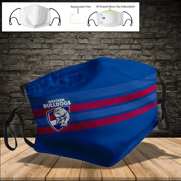 Western Bulldogs PM 2.5 Air Pollution Masks Washable Reusable Face Mask F#4