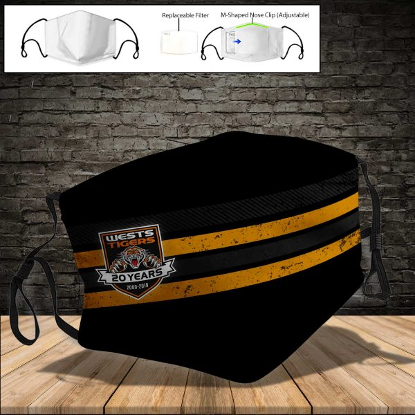 Wests Tigers PM 2.5 Air Pollution Masks Washable Reusable Face Mask F#4