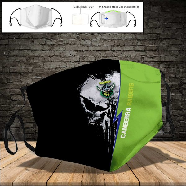 Canberra Raiders PM 2.5 Air Pollution Masks Washable Reusable Face Mask F#8