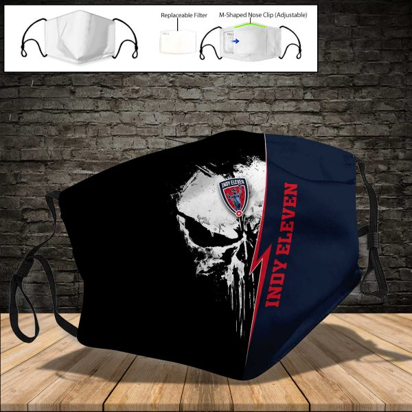 Indy Eleven PM 2.5 Air Pollution Masks Washable Reusable Face Mask F#8