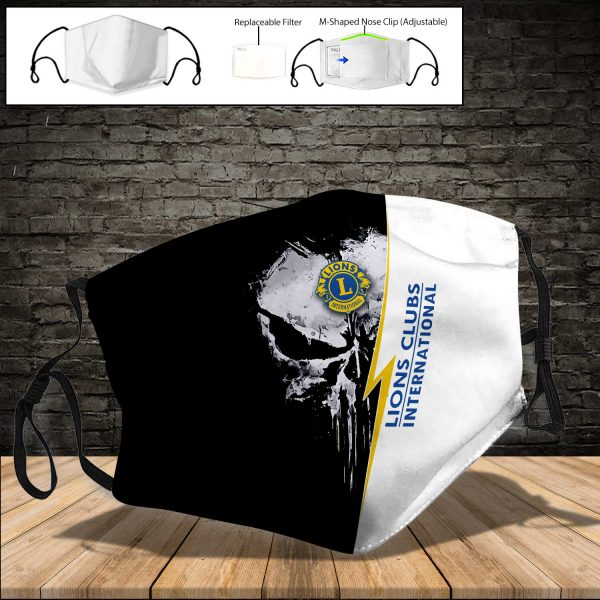 Lions Clubs International PM 2.5 Air Pollution Masks Washable Reusable Face Mask F#8
