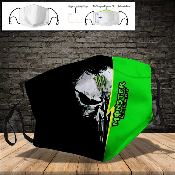 Monster Energy PM 2.5 Air Pollution Masks Washable Reusable Face Mask F#8
