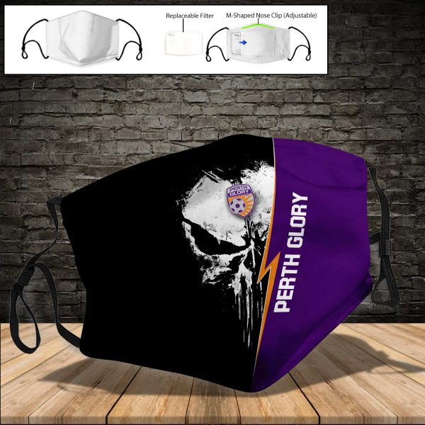 Perth Glory PM 2.5 Air Pollution Masks Washable Reusable Face Mask F#8