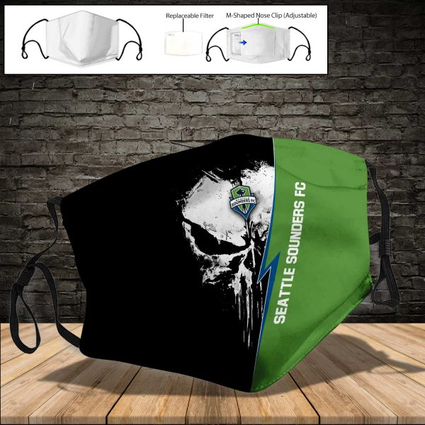 Seattle Sounders FC PM 2.5 Air Pollution Masks Washable Reusable Face Mask F#8