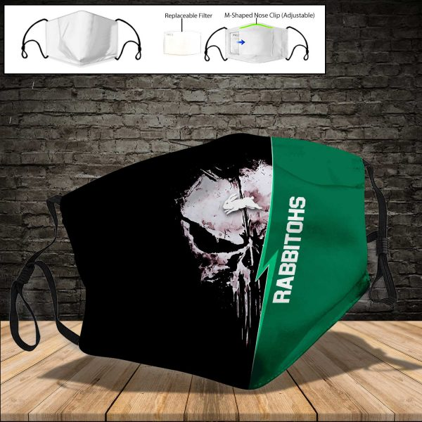 South Sydney Rabbitohs PM 2.5 Air Pollution Masks Washable Reusable Face Mask F#8