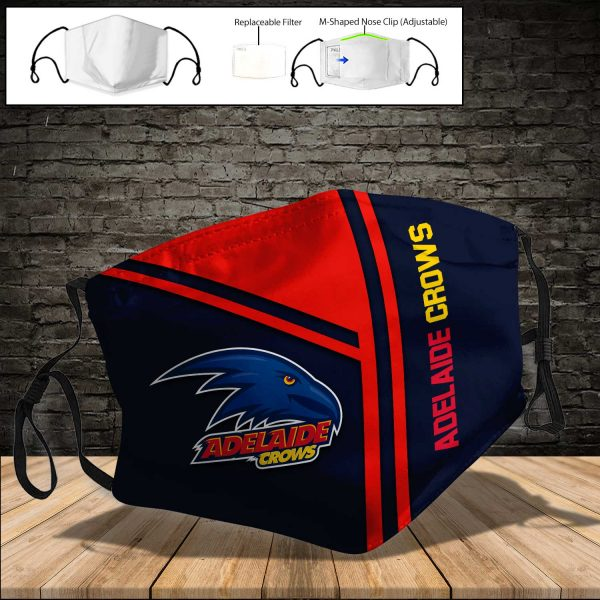 Adelaide Crows PM 2.5 Air Pollution Masks Washable Reusable Face Mask F#8