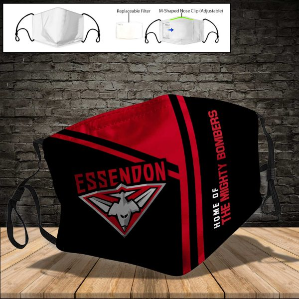 Essendon Bombers PM 2.5 Air Pollution Masks Washable Reusable Face Mask F#8