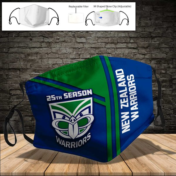 New Zealand Warriors PM 2.5 Air Pollution Masks Washable Reusable Face Mask F#8