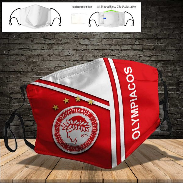 Olympiacos PM 2.5 Air Pollution Masks Washable Reusable Face Mask F#8