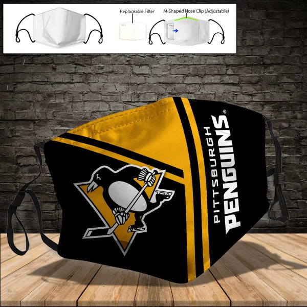 Pittsburgh Penguins PM 2.5 Air Pollution Masks Washable Reusable Face Mask F#8