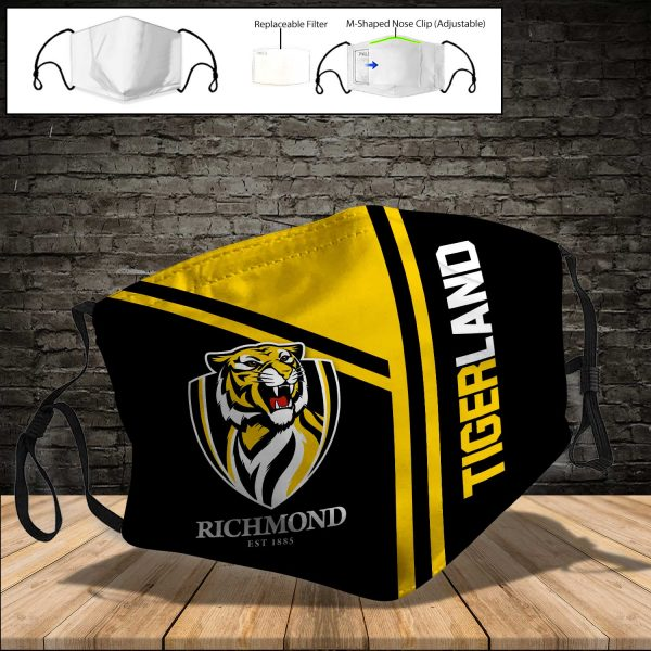 Richmond Tigers PM 2.5 Air Pollution Masks Washable Reusable Face Mask F#8