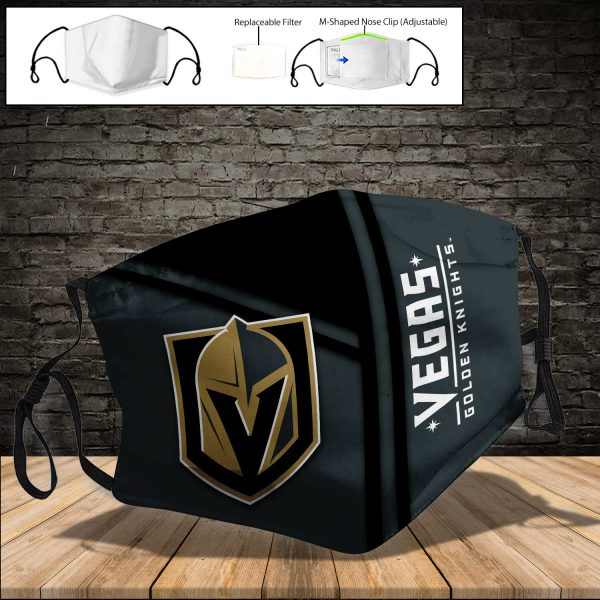 Vegas Golden Knights PM 2.5 Air Pollution Masks Washable Reusable Face Mask F#8