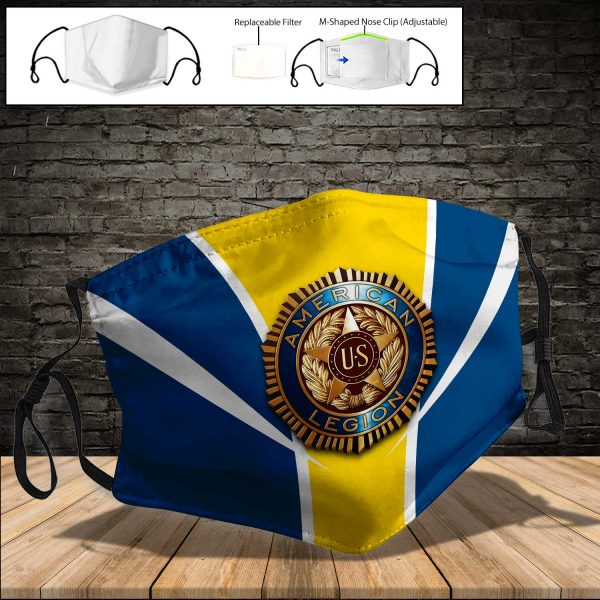 American Legion PM 2.5 Air Pollution Masks Washable Reusable Face Mask F#7