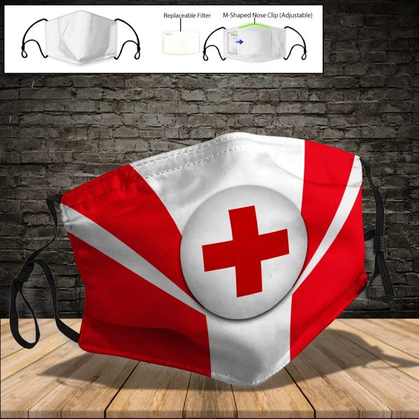 American Red Cross PM 2.5 Air Pollution Masks Washable Reusable Face Mask F#7