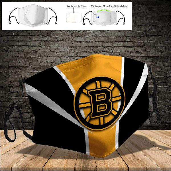 Boston Bruins PM 2.5 Air Pollution Masks Washable Reusable Face Mask F#7