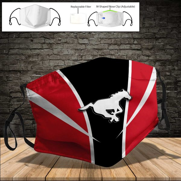 Calgary Stampeders PM 2.5 Air Pollution Masks Washable Reusable Face Mask F#7