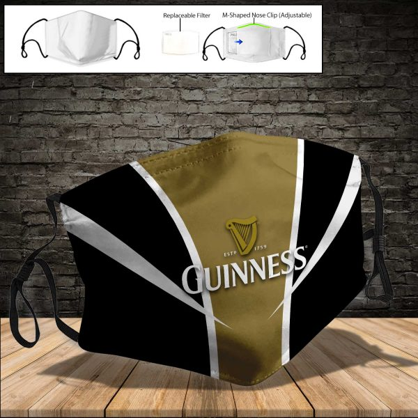 Guinness PM 2.5 Air Pollution Masks Washable Reusable Face Mask F#7