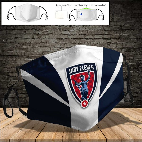 Indy Eleven PM 2.5 Air Pollution Masks Washable Reusable Face Mask F#7