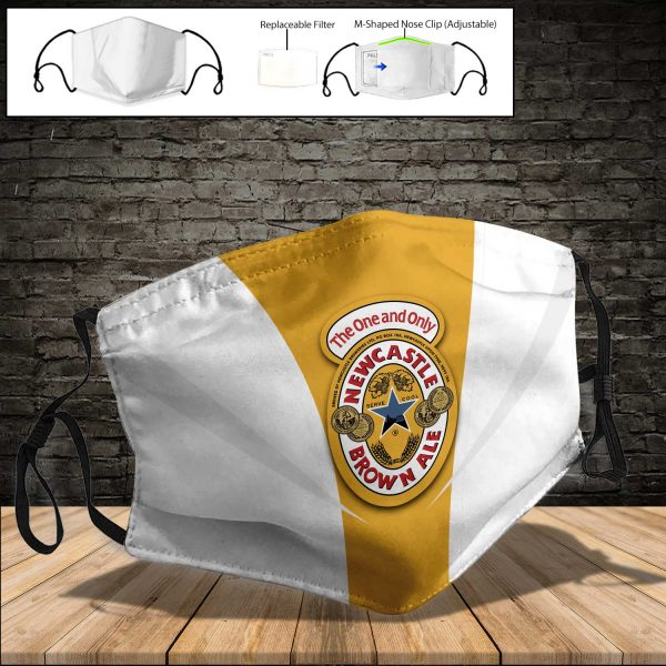 Newcastle Brown Ale PM 2.5 Air Pollution Masks Washable Reusable Face Mask F#7