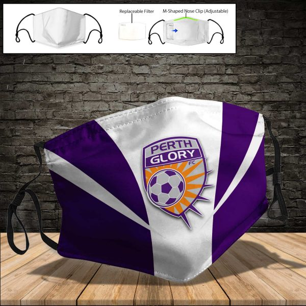 Perth Glory PM 2.5 Air Pollution Masks Washable Reusable Face Mask F#7