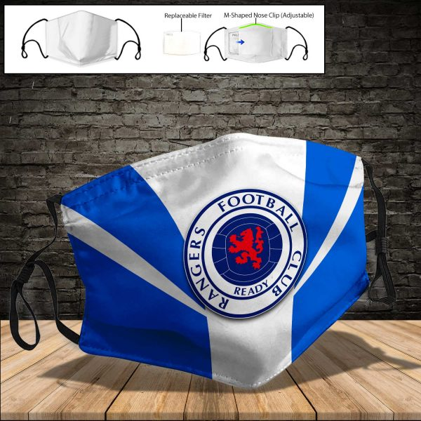 Rangers F.C PM 2.5 Air Pollution Masks Washable Reusable Face Mask F#7
