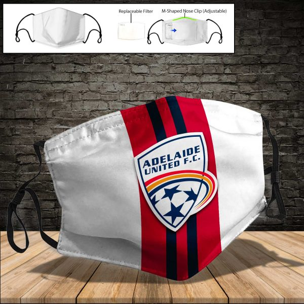 Adelaide United PM 2.5 Air Pollution Masks Washable Reusable Face Mask F#6