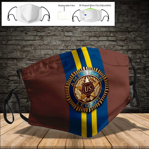 American Legion PM 2.5 Air Pollution Masks Washable Reusable Face Mask F#6