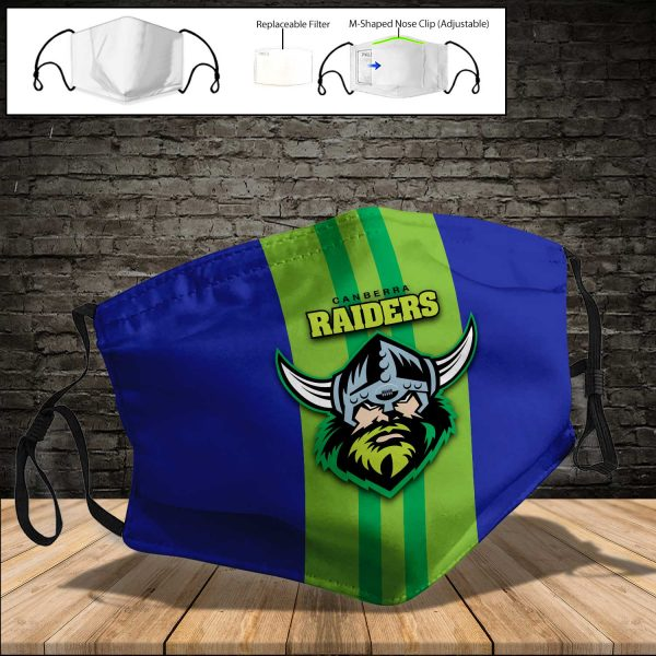 Canberra Raiders PM 2.5 Air Pollution Masks Washable Reusable Face Mask F#6