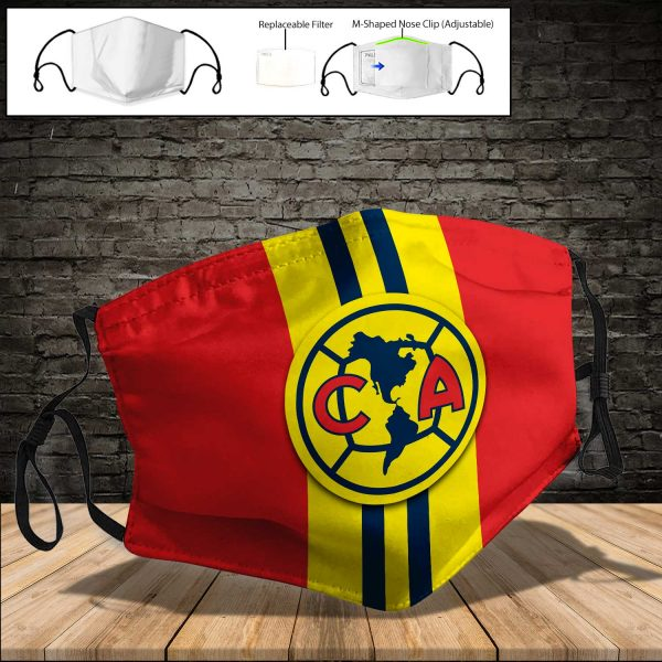 Club America PM 2.5 Air Pollution Masks Washable Reusable Face Mask F#6