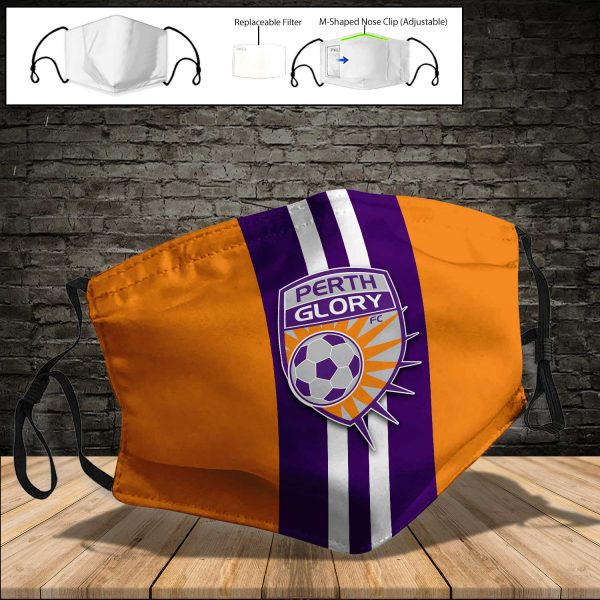 Perth Glory PM 2.5 Air Pollution Masks Washable Reusable Face Mask F#6