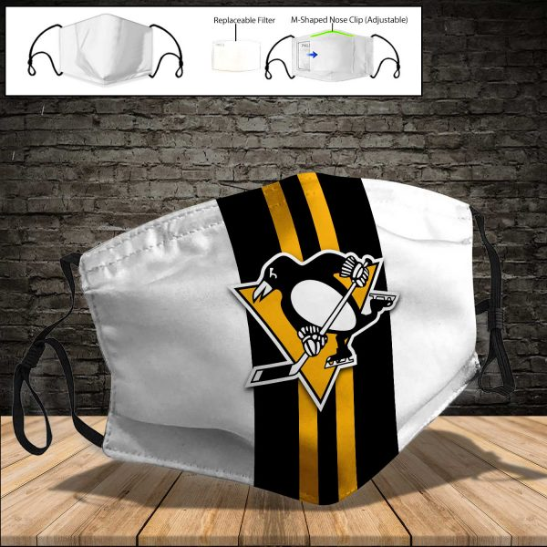 Pittsburgh Penguins PM 2.5 Air Pollution Masks Washable Reusable Face Mask F#6