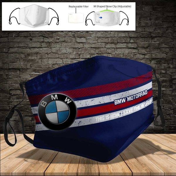 BMW Motorrad PM 2.5 Air Pollution Masks Washable Reusable Face Mask F#5