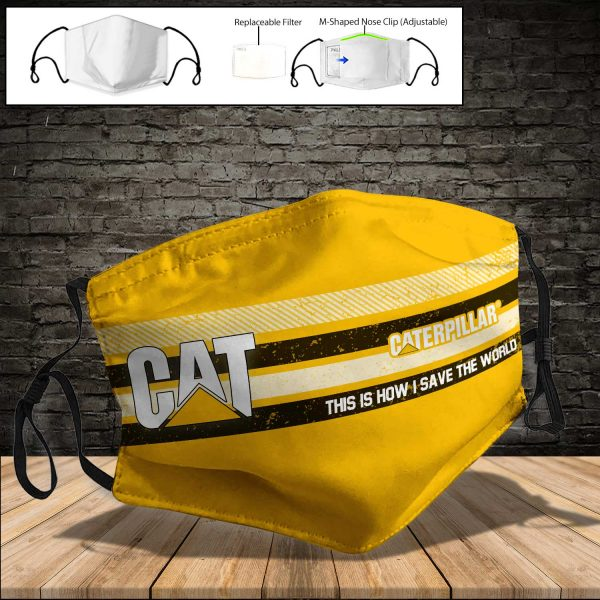 Caterpillar Inc PM 2.5 Air Pollution Masks Washable Reusable Face Mask F#5