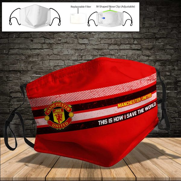 Manchester United PM 2.5 Air Pollution Masks Washable Reusable Face Mask F#5