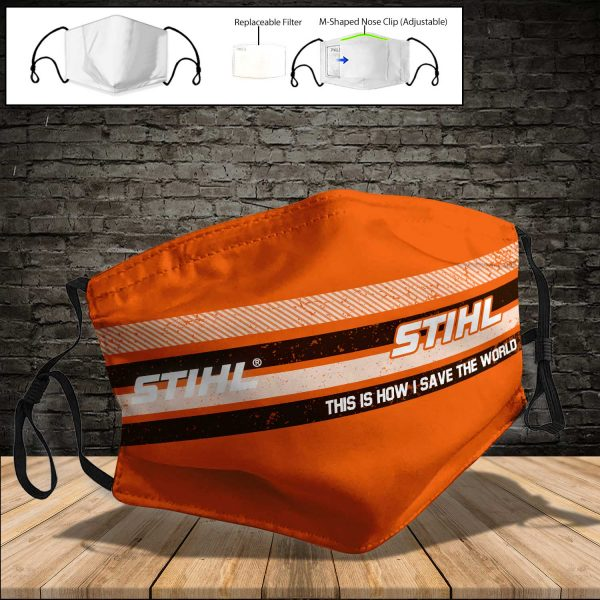 Stihl PM 2.5 Air Pollution Masks Washable Reusable Face Mask F#5