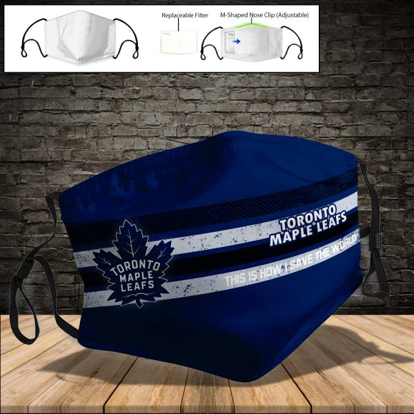 Toronto Maple Leafs PM 2.5 Air Pollution Masks Washable Reusable Face Mask F#5
